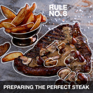 Preparing the perfect steak