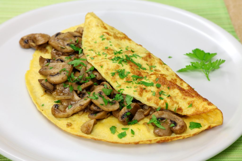 Foods to fight flu: mushroom omelette